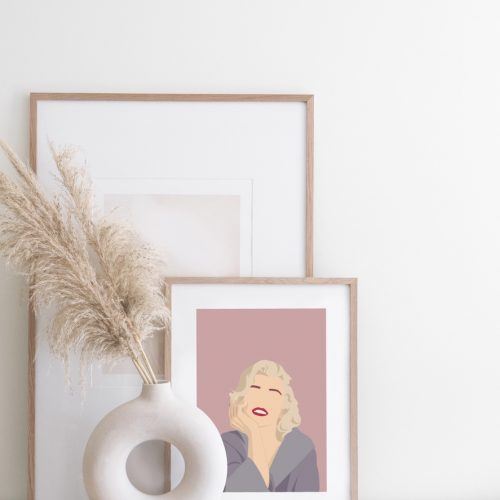 Marylin Monroe Minimalist Art
